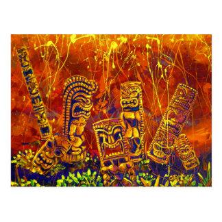CBjork Tiki Hot Lava Showers Postcard