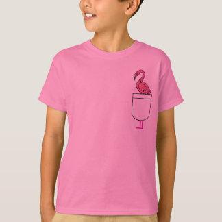 CC- Pink Flamingo in a pocket shirt