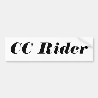 CC Rider Basic Bumper Sticker