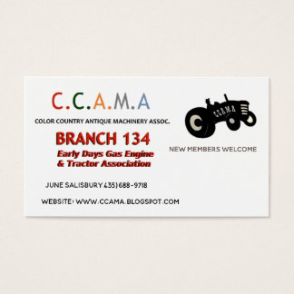 CCAMA Vintage Tractors Business Cards