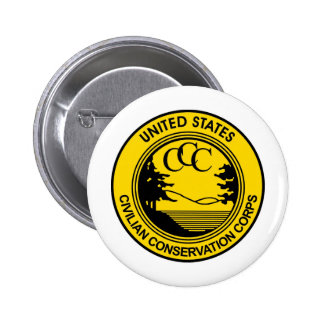 CCC Civilian Conservation Corps Commemorative 2 Inch Round Button