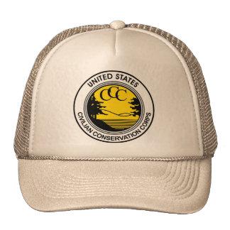 CCC Civilian Conservation Corps Tribute Mesh Hats