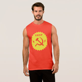 CCCP communist Badge Design Sleeveless Shirt