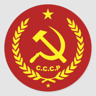 CCCP Communist Hammer and Sickle Badge Classic Round Sticker