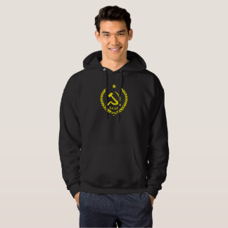 CCCP Communist Hammer and Sickle Badge Hoodie