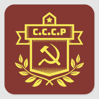 CCCP Emblem Square Stickers