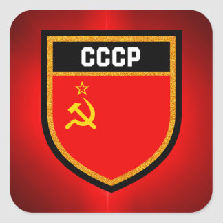 CCCP Flag Square Sticker