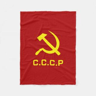 CCCP Hammer and Sickle Fleece Blanket
