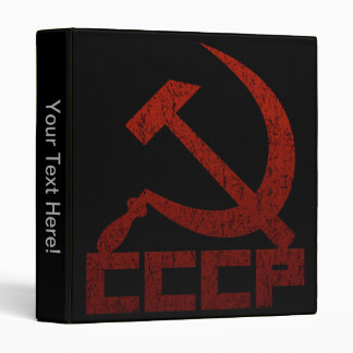 CCCP Hammer & Sickle 3 Ring Binders