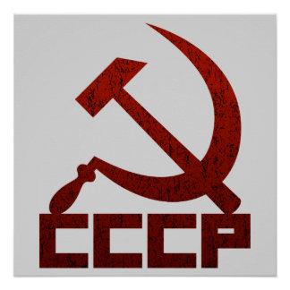 CCCP Hammer & Sickle Poster