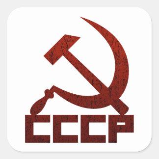 CCCP Hammer & Sickle Square Sticker
