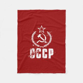 CCCP Hammer Sickle White Vintage Flag Blankets
