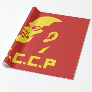 CCCP Lenin Portrait Glossy Wrapping Sticker Wrapping Paper