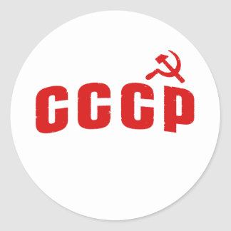 CCCP ROUND STICKER