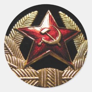 cccp russian officer sailor round sticker