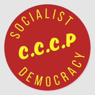 CCCP Socialist Democracy Classic Round Sticker