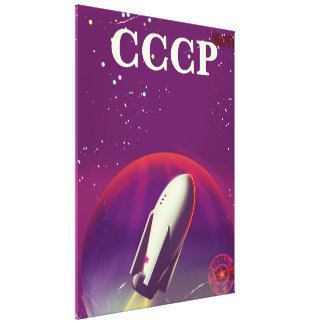 CCCP Soviet space race travel poster Canvas Print