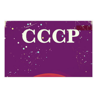 CCCP Soviet space race travel poster Stationery