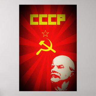 cccp soviet union communist red lenin russia propa poster