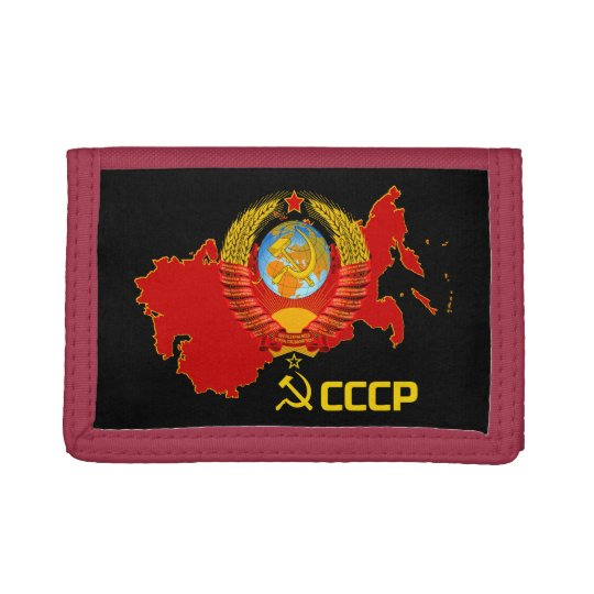 CCCP - Soviet Union Wallet. Trifold Wallets