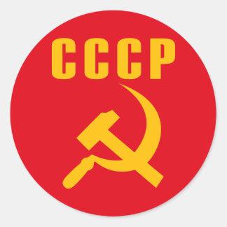 cccp URSS de marteau et de faucille Adhésifs Ronds
