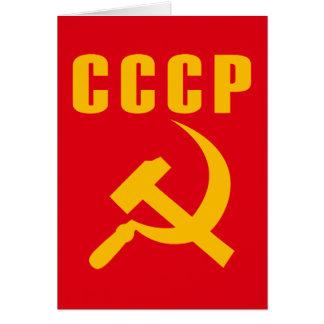 cccp URSS de marteau et de faucille Carte De Vœux