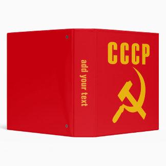cccp URSS de marteau et de faucille Classeur 3 Anneaux