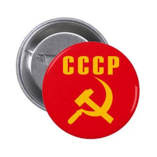cccp URSS de marteau et de faucille Macaron Rond 5 Cm