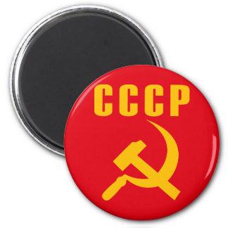 cccp URSS de marteau et de faucille Magnet Rond 8 Cm