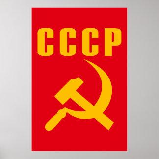 cccp URSS de marteau et de faucille Poster