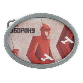 CCCP URSS propaganda poster buckle belt Belt Buckles