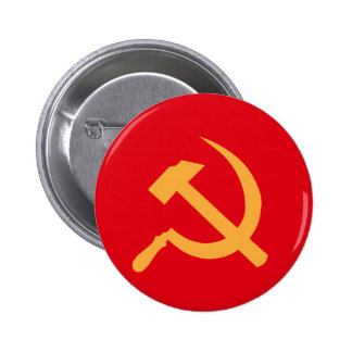 cccp ussr hammer and sickle 2 inch round button