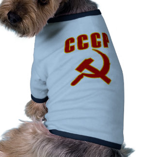 cccp ussr hammer and sickle pet clothes