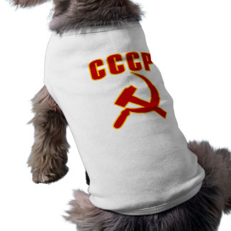 cccp ussr hammer and sickle pet tee