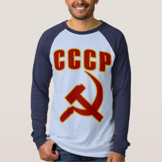 cccp ussr hammer and sickle t shirt
