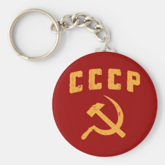 cccp vintage russian ussr hammer and sickle basic round button keychain