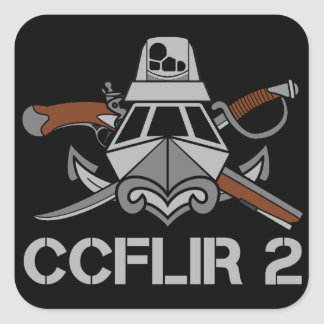 "CCFLIR 2 Zap (Sticker), 3"" X 3"", Sheet of 6 Square Sticker"