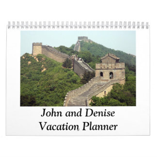 CCHMC John and Denise Vacation Planner Calendars