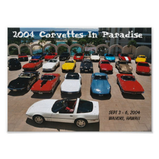 CCOH Corvettes In Paradise 2004 Poster