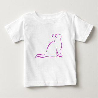 CCR logo/pink cat silhouette Baby T-Shirt