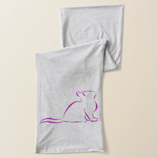 CCR logo/pink cat silhouette Scarf
