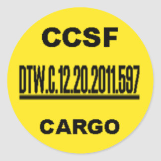 CCSF sticker - One UNDERLINED Number Tall