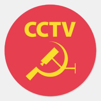 CCTV Flag Round Sticker