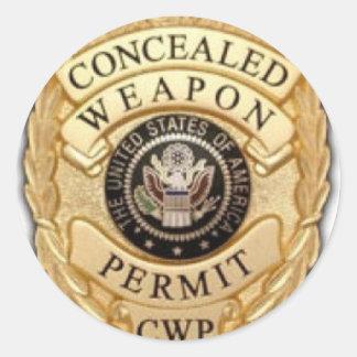 ccw badge design round sticker