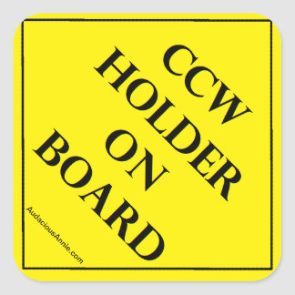 CCW Holder on Board Square Sticker