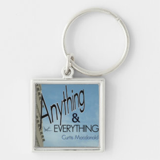 """CD Cover Art """"Anything & Everything"""" Silver-Colored Square Keychain"""