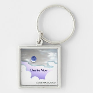 """CD Cover Art """"Cheshire Moon"""" Silver-Colored Square Keychain"""