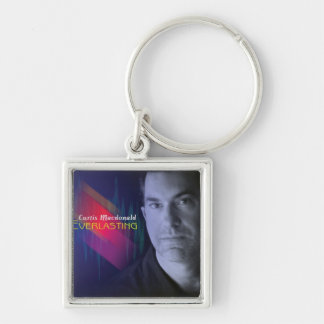 """CD Cover Art """"Everlasting"""" Silver-Colored Square Keychain"""