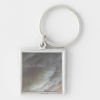 """CD Cover Art """"Falling Into Midnight"""" Silver-Colored Square Keychain"""