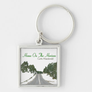 """CD Cover Art """"Home On The Horizon"""" Silver-Colored Square Keychain"""